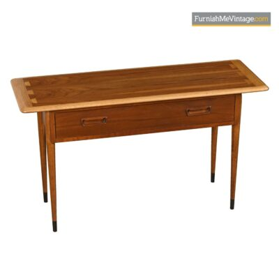Mid-century modern Lane Acclaim sofa table console table desk