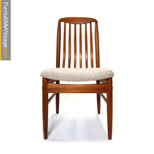 Benny Linden BL10 high back Danish teak dining chairs