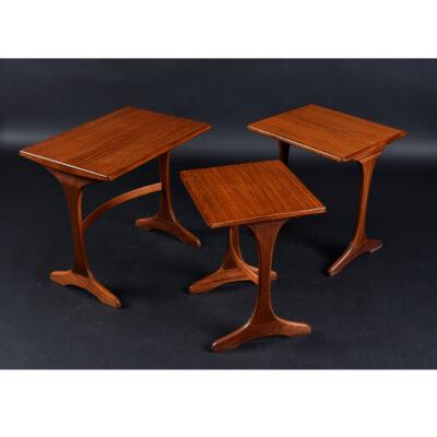 G Plan Danish Modern Teak Nesting Tables