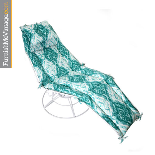 Homecrest white and aqua blue outdoor chaise lounge Siesta model 105a