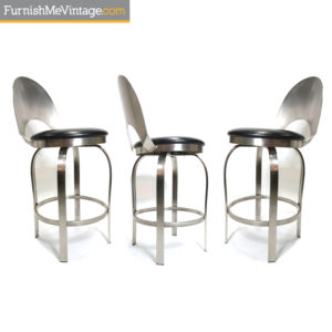 Tricia Stainless Steel Modern Counter Height Bar Stools