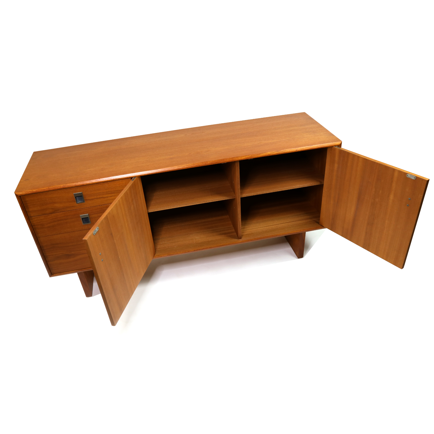 Image of: Mid Century Modern Teak Credenza Petite And Low Profile