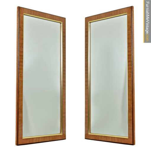 Drexel Avenues burl wood birds eye mirrors gold trim