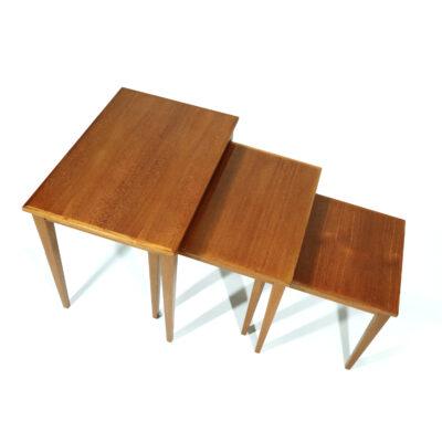 Vintage Mid-Century Modern Danish teak nesting tables