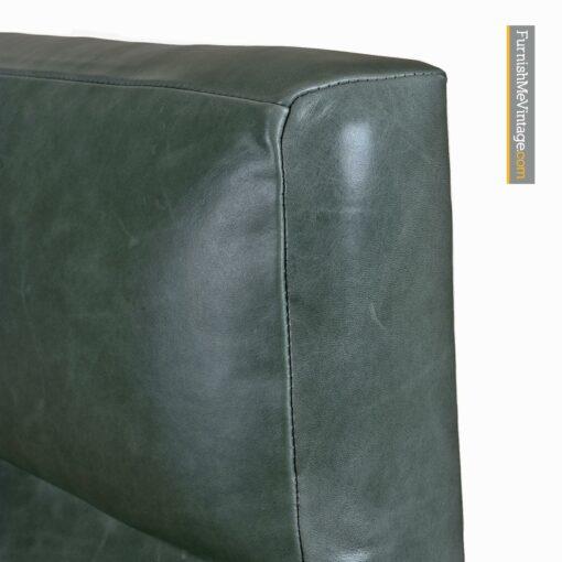 Ib Kofod Larsen leather high back arm chair