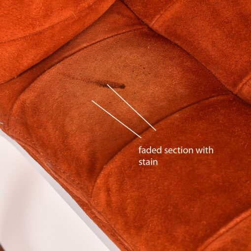 Roche Bobois Orange Suede chair with chrome base
