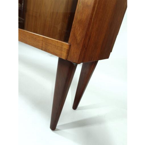 walnut china cabinet mid-century modern