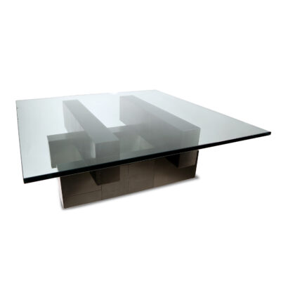 Paul Evans Black Cityscape coffee table