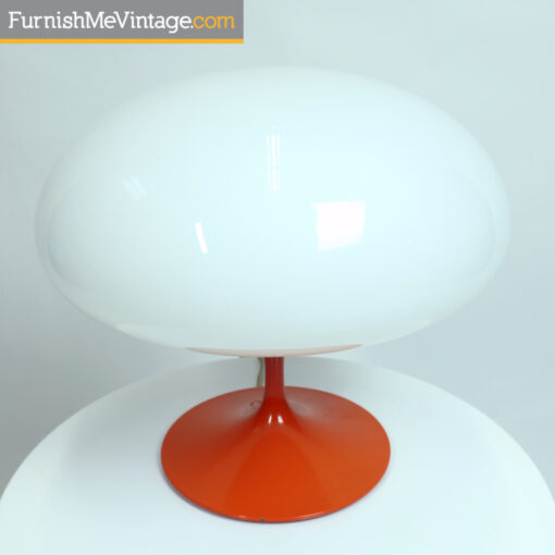 orange Billy Curry A3 Stemlite Mushroom lamp