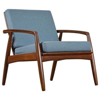 Blue Svend Madsen Danish arm chair