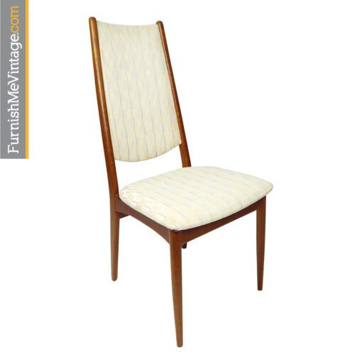 teak high back dining chairs made in Denmark