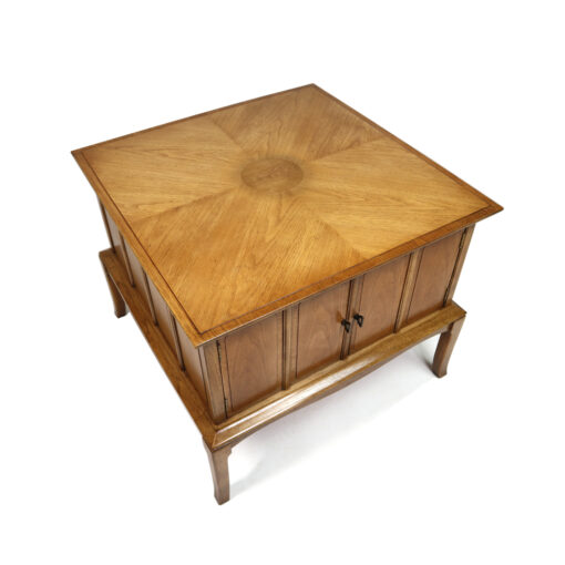 Thomasville Horizon Mid-century modern end table cabinet