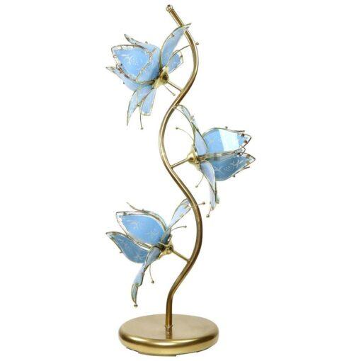 Anthony California Blue Gold Flower lamp