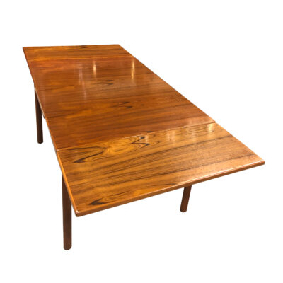 Dixie Danish teak mid-century modern draw leaf table
