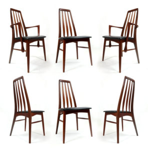Koefoeds Hornslet Eva Mid-Century Modern Danish Teak Dining Chairs