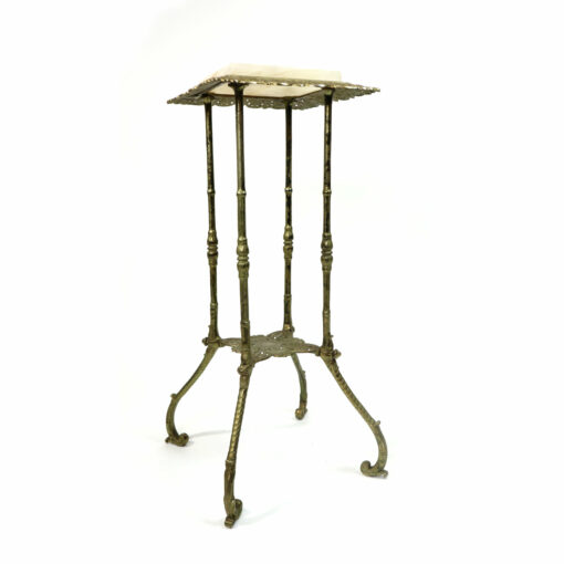 Art Nouveau antique plant stand with onyx