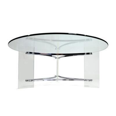 Lucite Charles Hollis Jones Round coffee table