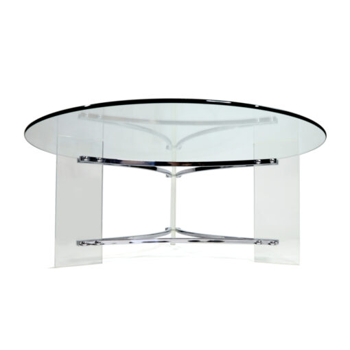 Lucite Charles Hollis Jones Round coffee table