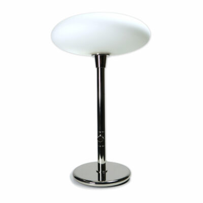 Chrome mushroom table lamp white saucer diffuser