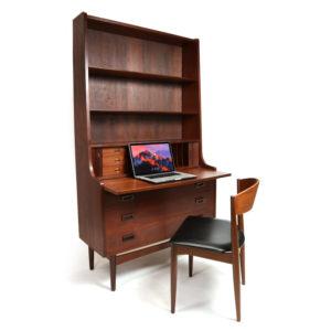 Borge Mogensen Danish Teak Bookcase Secretary Desk