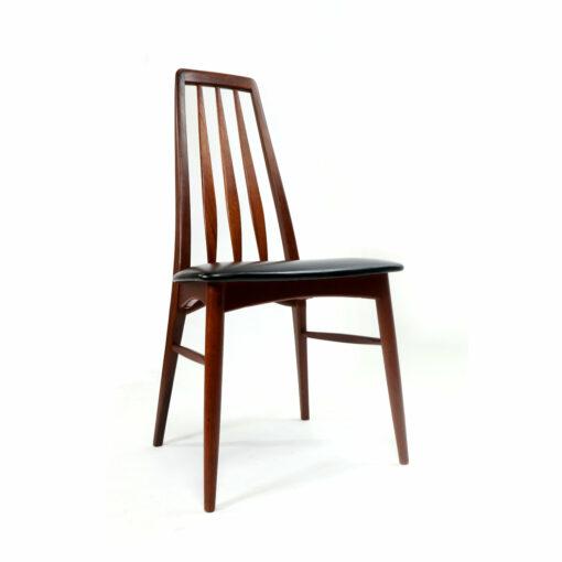 vKoefoeds Hornslet Eva Danish Teak Dining Chairs Mid-Century Modern