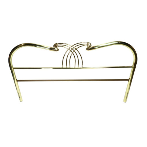 Gold Brass vintage king size bed headboard