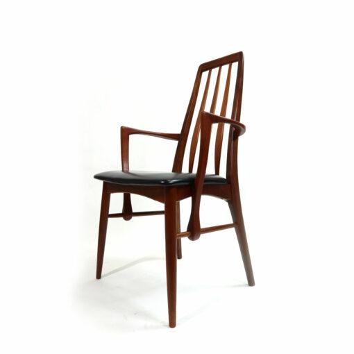 Koefoeds Hornslet Eva Danish Teak Dining Chairs Mid-Century Modern