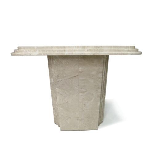 Italian Travertine Art Deco marble side tables