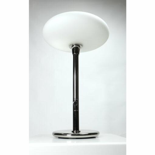 Chrome mushroom table lamp white saucer diffuser