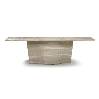 Art Deco travertine coffee table