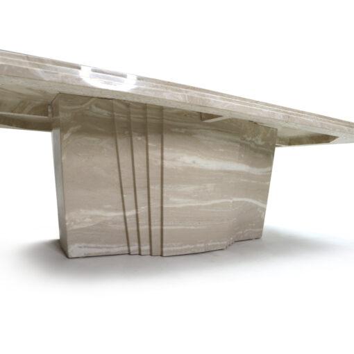 Art Deco travertine coffee table