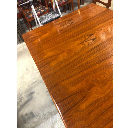 Dixie Danish teak mid-century modern draw leaf table