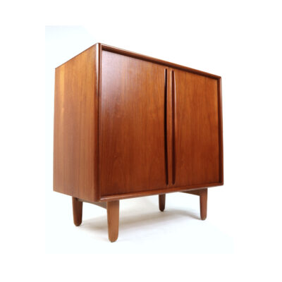 Svend Madsen for Falster Danish Teak Bar Cabinet Record Cabinet
