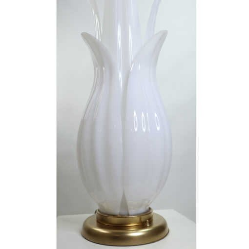 Rougier Floriform White and Gold acrylic floral table lamp