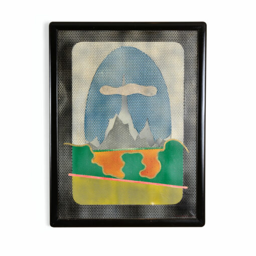 Mario Padovan Paeaggio Op Art Painting