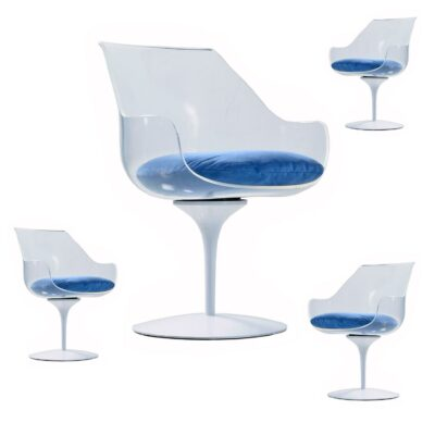 Lucite Champagne Laverne Chairs