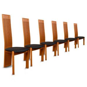Luxury Costantini Pietro High Back Modern Italian Cherry Dining Chairs