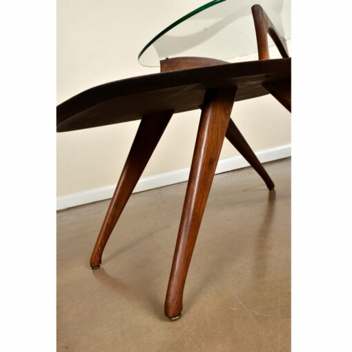 Vladimir Kagan Style Rectangular Two Tier End Table