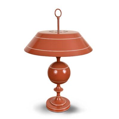 Vintage metal enamel toleware lamp saucer shade