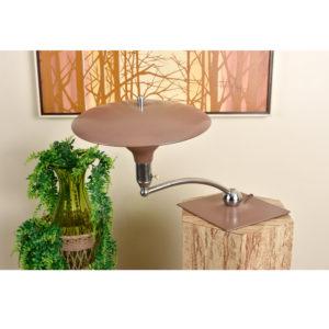 M.G. Wheeler Beige Sight Light Saucer Mid Century Modern Desk Lamp