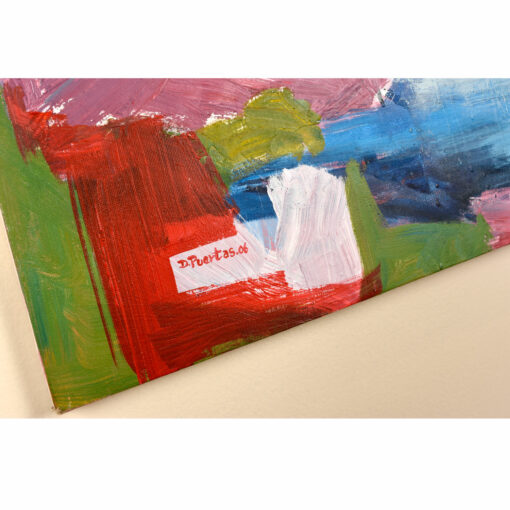 D Puertas abstract expressionist mixed media painting
