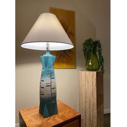 Tye of California aqua blue Torpedo lamp 1957