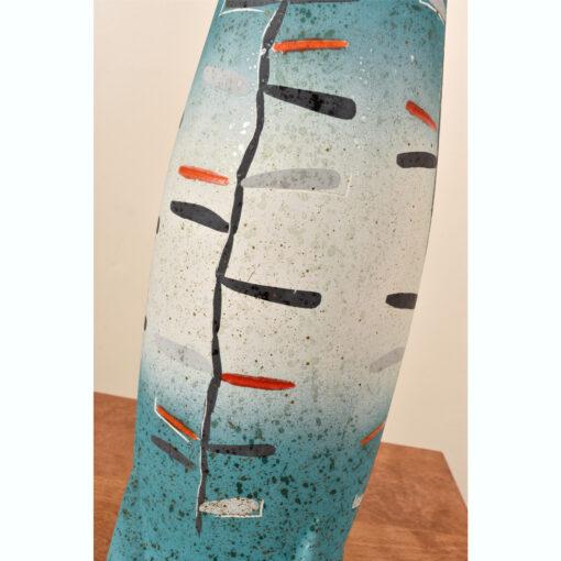Tye of California aqua blue Torpedo lamp 1957