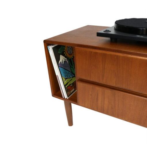 Danish teak record player record cabinet printer stand nightstand