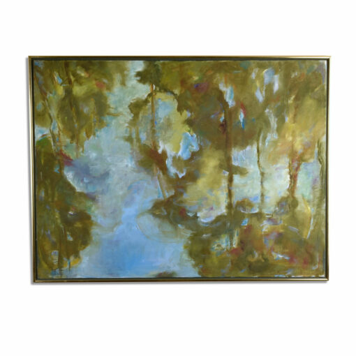 V. Reeder After Water Lillies Trees Reflecting on Water Painting