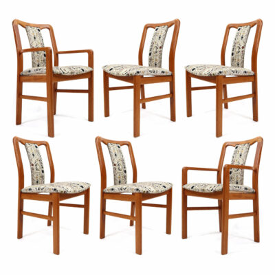 Danish Teak Upholstered Dining Chairs by Boltinge