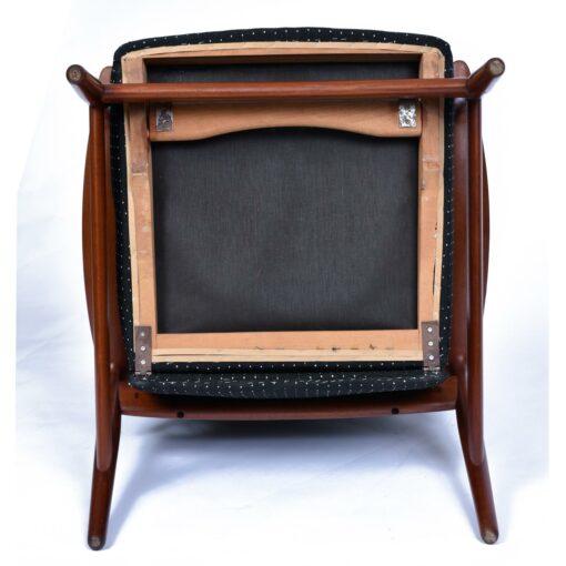 K. Rasmussen for Peter Wessel Mid-Century Modern Teak Recliner Chair-modern-teak-recliner