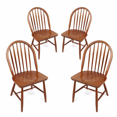 KD Furniture Danish Teak spindle back dining chairs