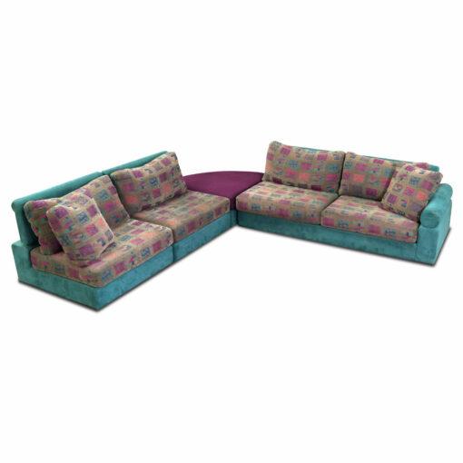 Modern blue Dellarobbia sectional sofa