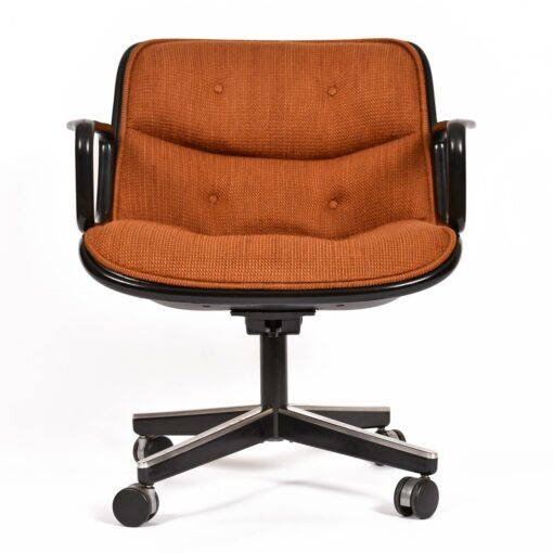 Charles Pollack for Knoll Burnt Orange Executive Chairs